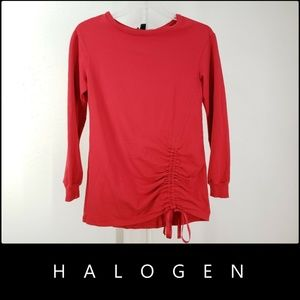Halogen Women Long Sleeve Blouse Size Small Red